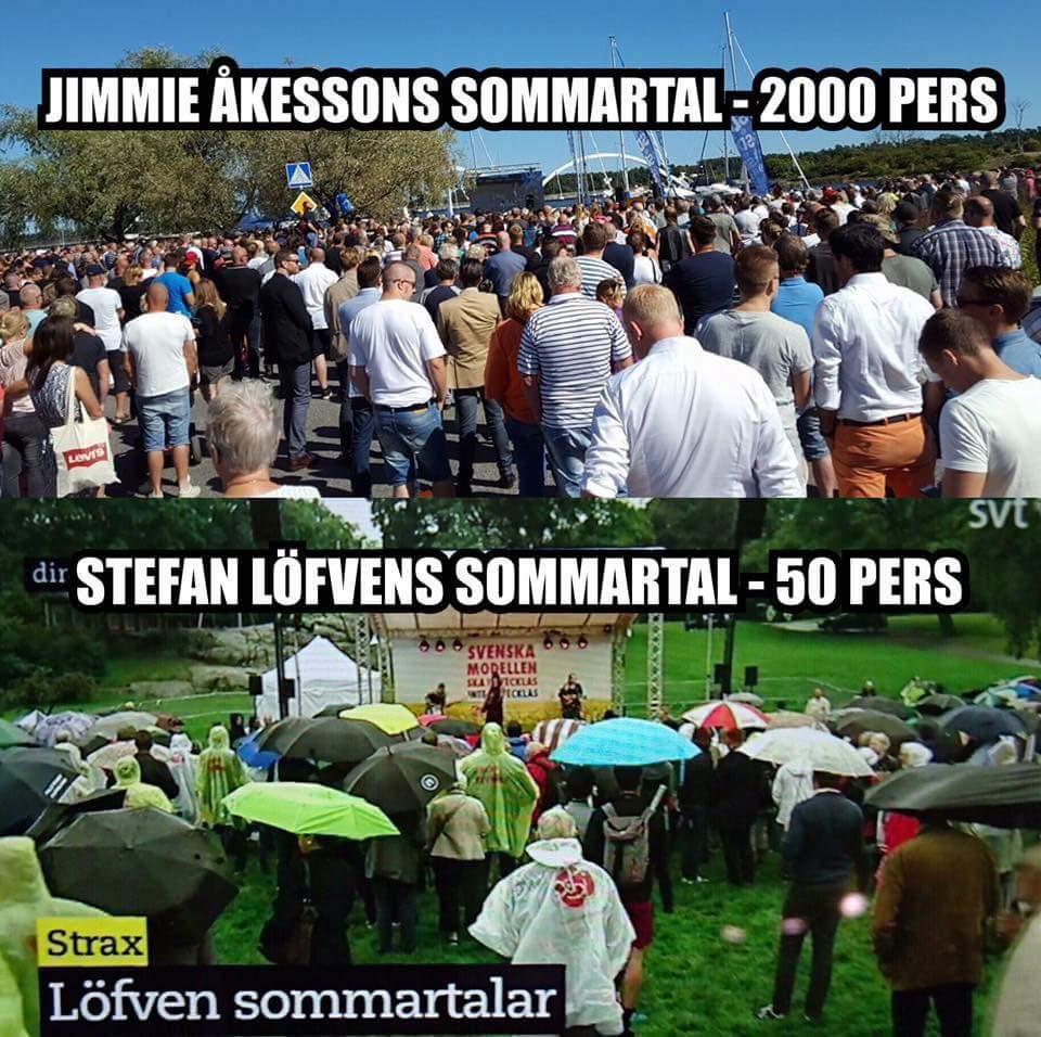 Åkesson sommartal 2000 vs 50