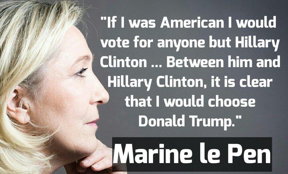 Marine Le Pen Hillary