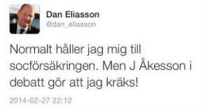 Dan Eliasson kräks