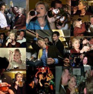 Hillary drunk