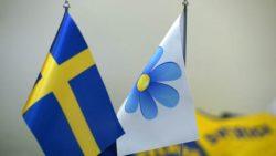 SD flagga och blomma